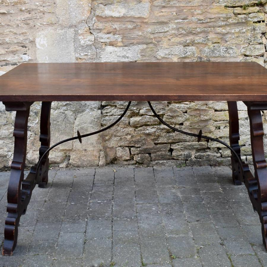 Vintage Spanish Trestle Dining Table