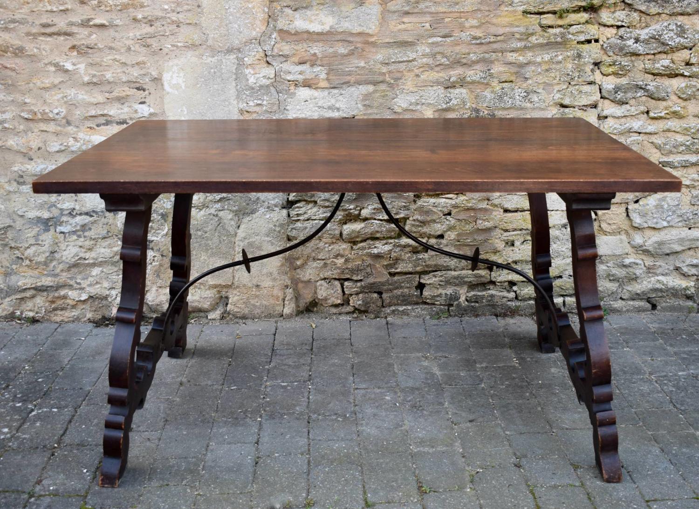 Vintage Spanish Trestle Dining Table