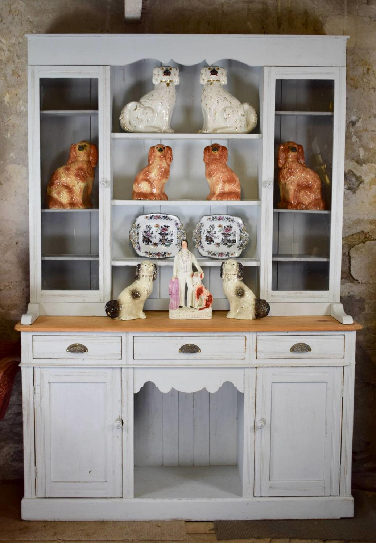 Antique Painted Pine Welsh Dresser