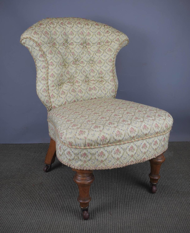 Victorian Button Back Nursing Chair