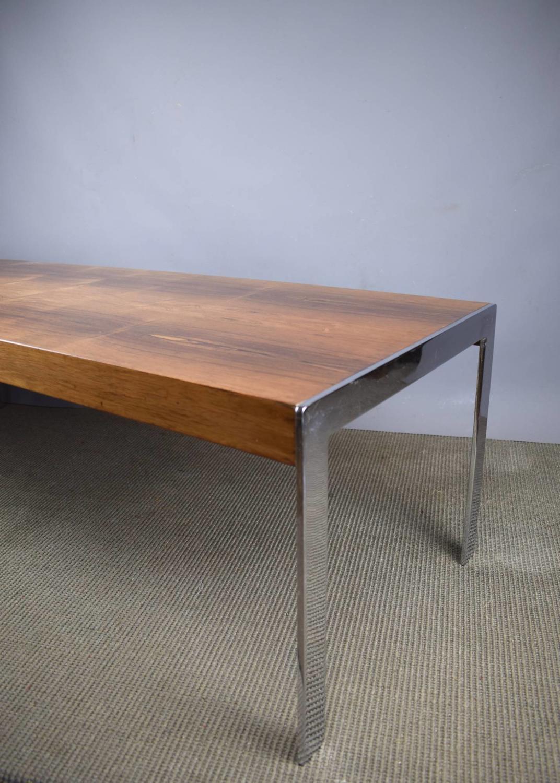 Merrow Associates Rosewood & Chrome Coffee Table