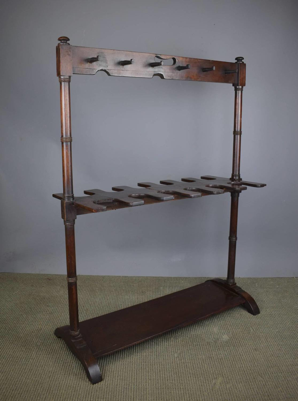 Victorian Mahogany Boot & Whip Rack