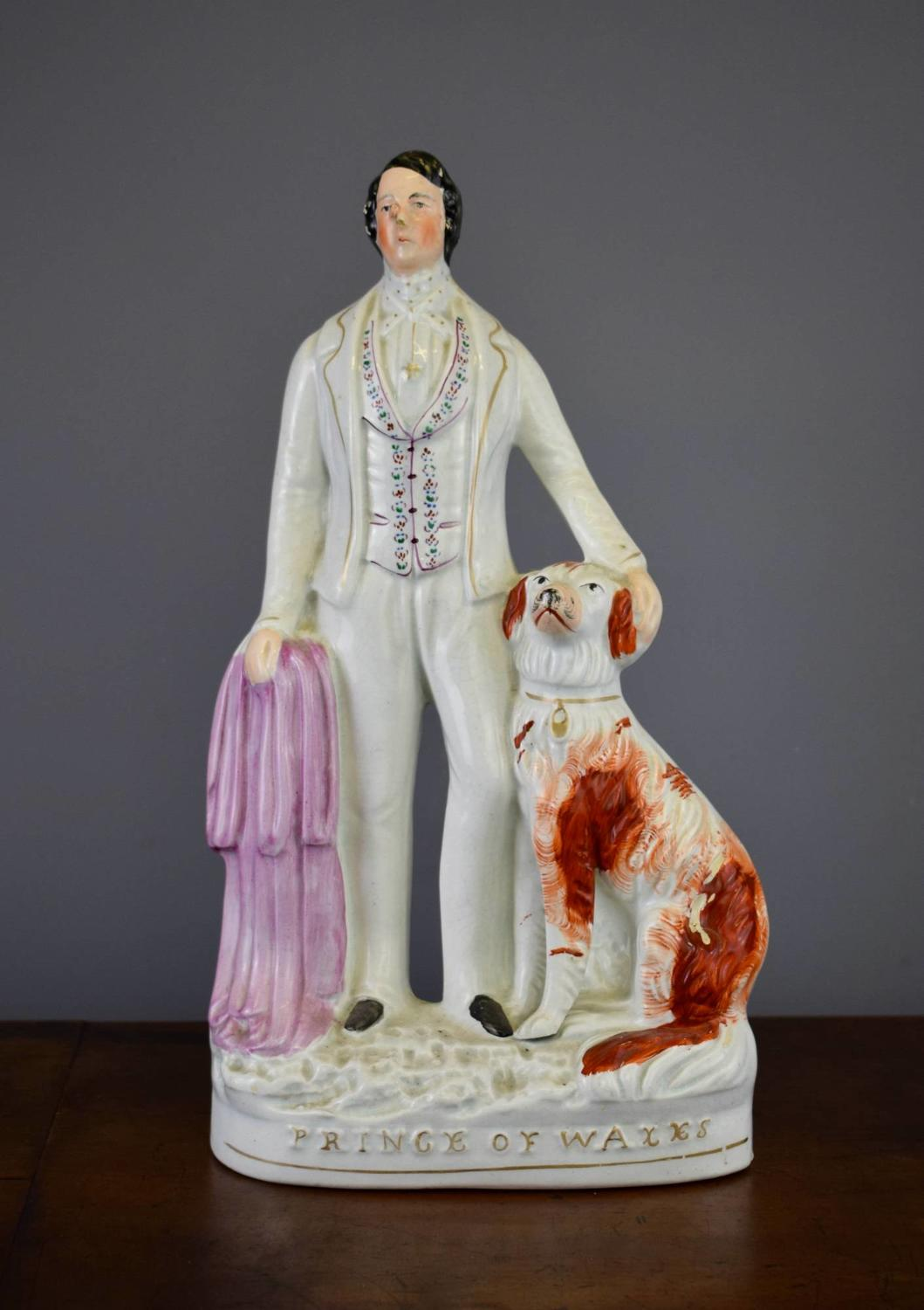Victorian Staffordshire Figure of The Prince of Wales