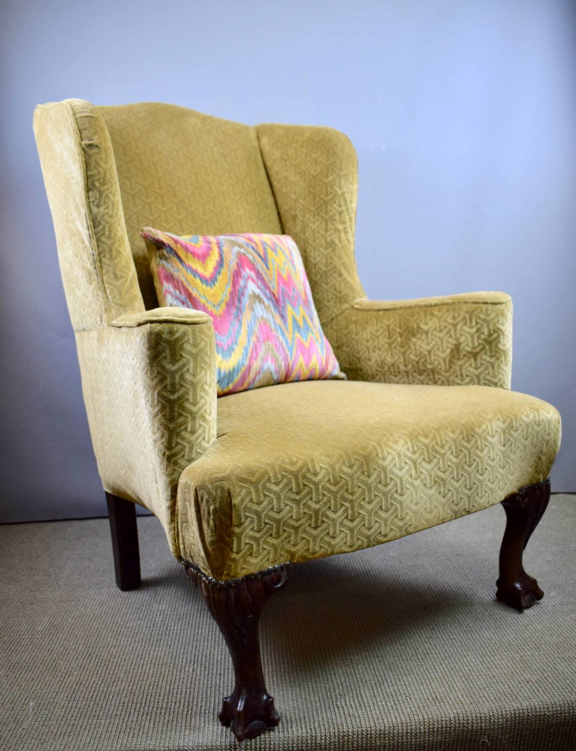 Antique Wingback Armchair in George I Style