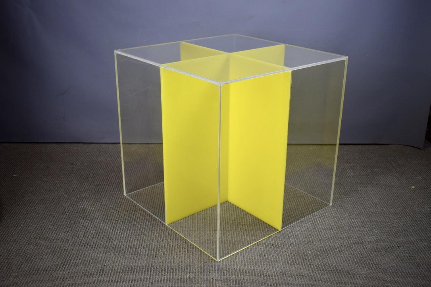 1960's Perspex Cube Table