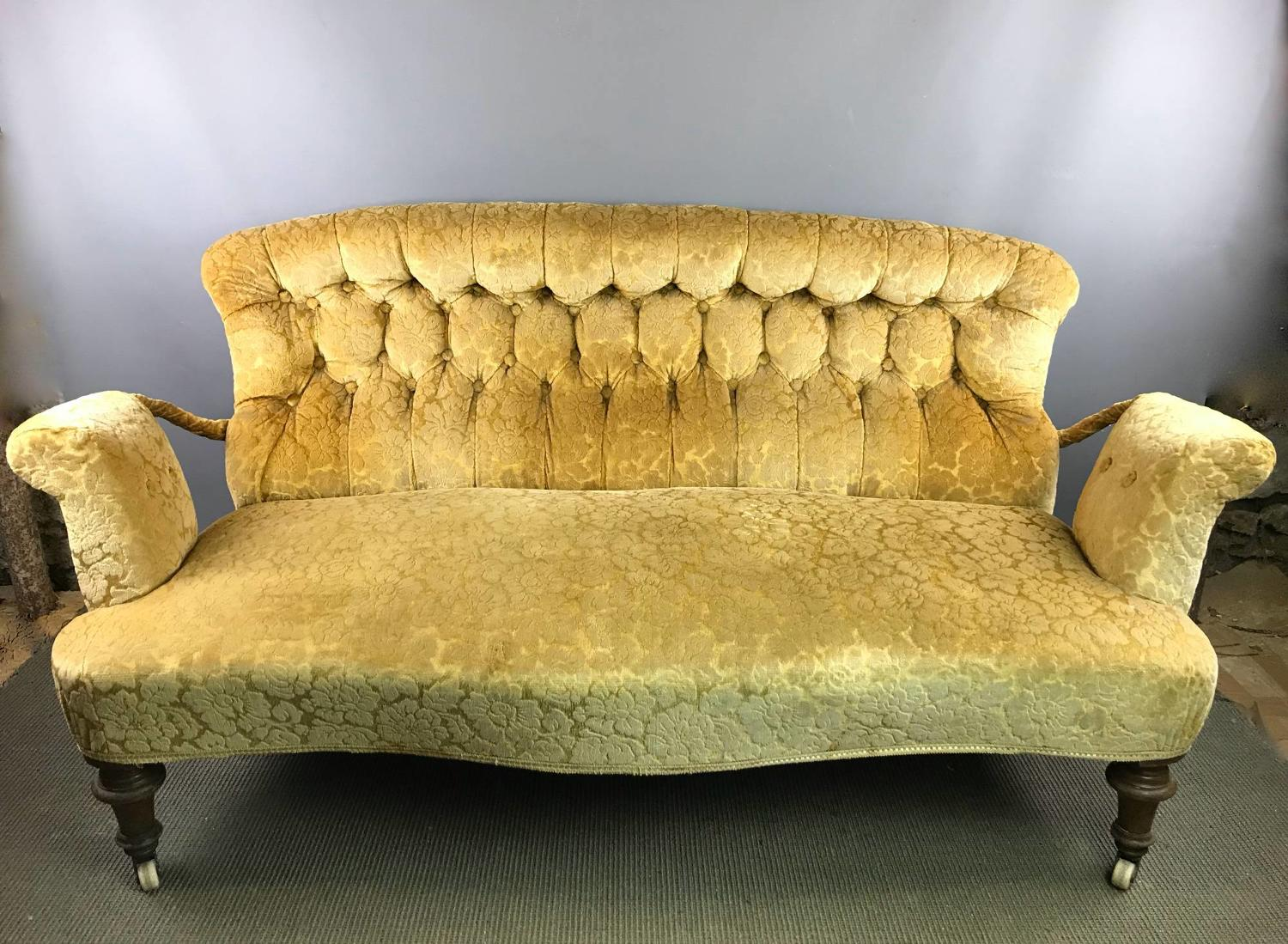 Victorian Button Back Two Seat Sofa