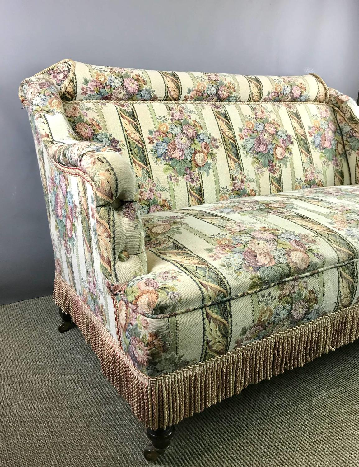 Victorian Tapestry upholstered Two Seat Sofa