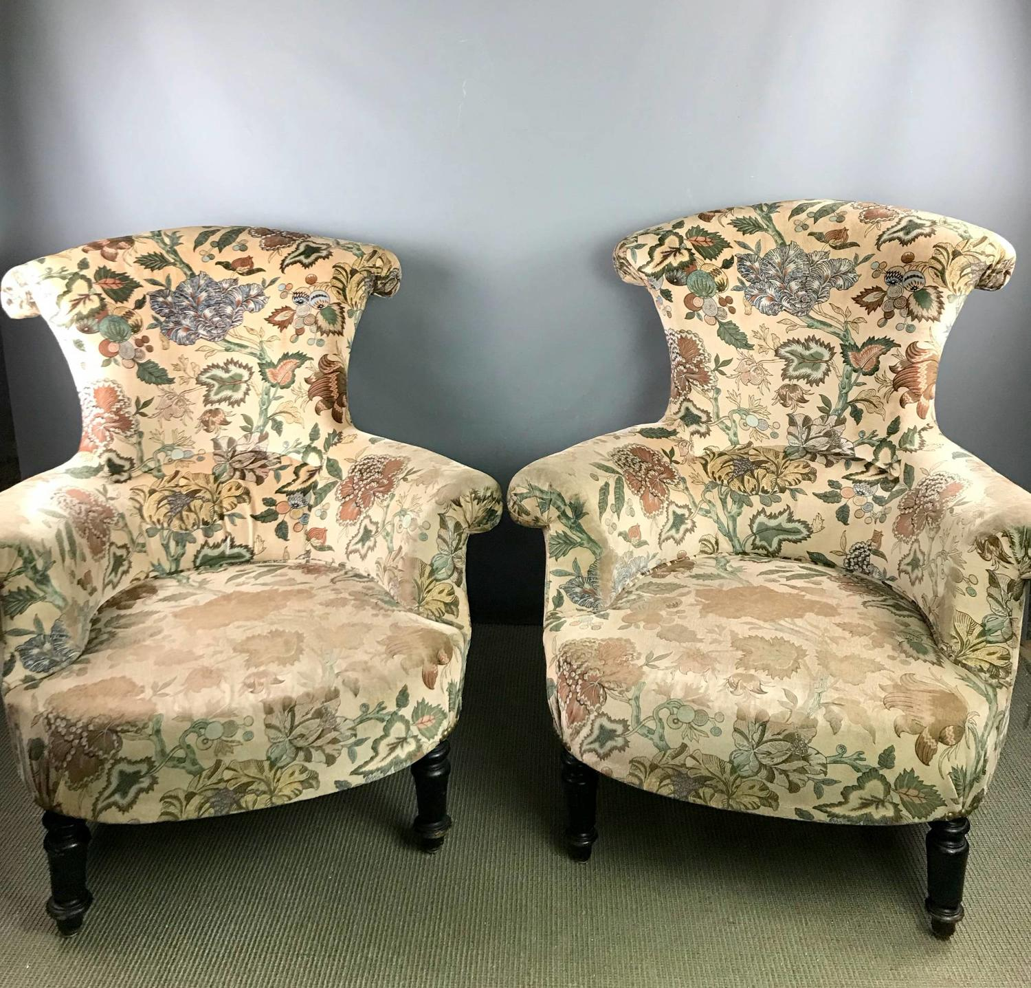 Pair of French Napoleon III Armchairs for recovering