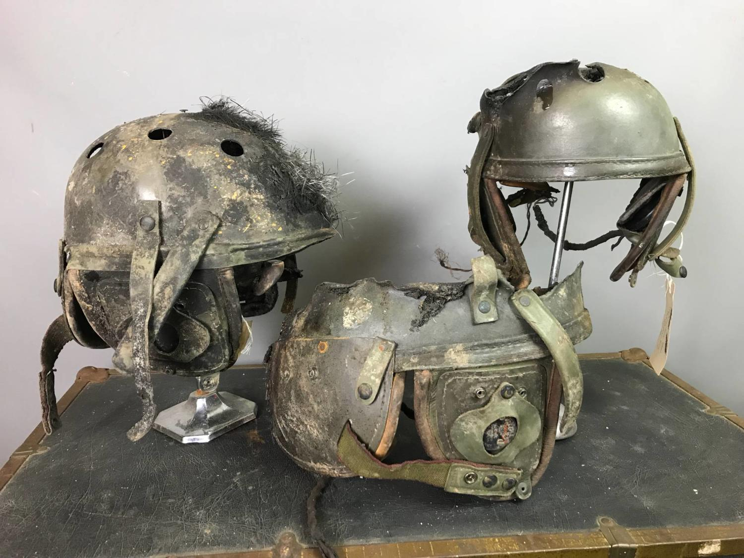 Film Props - Tankers Helmets from the Film FURY starring Brad Pitt