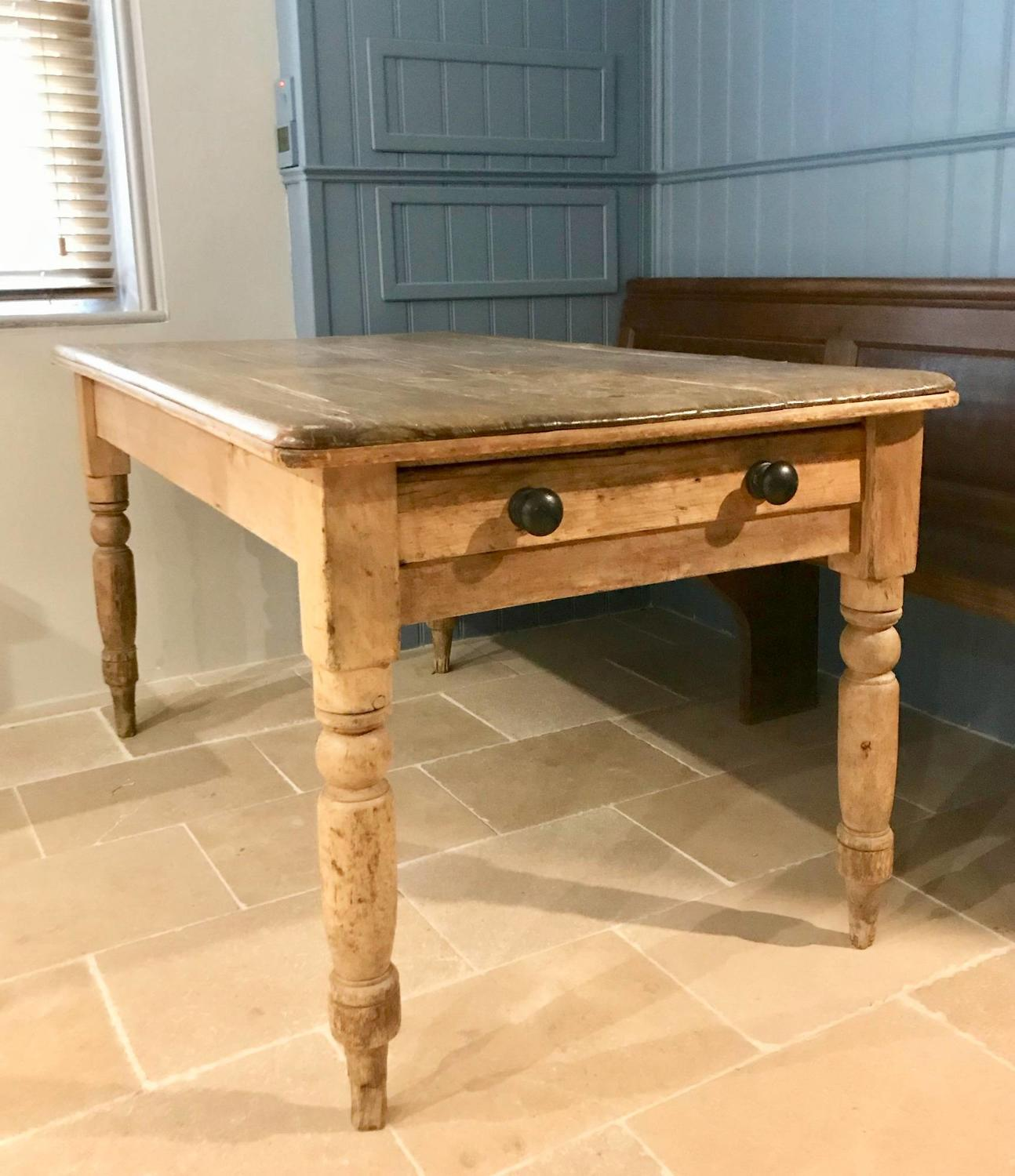 Victorian Rustic Pine Kitchen Table