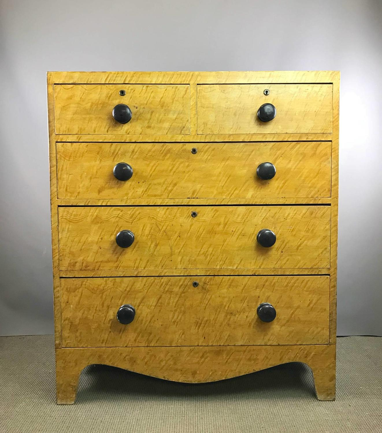 Regency Scumble Grained Pine Chest of Drawers