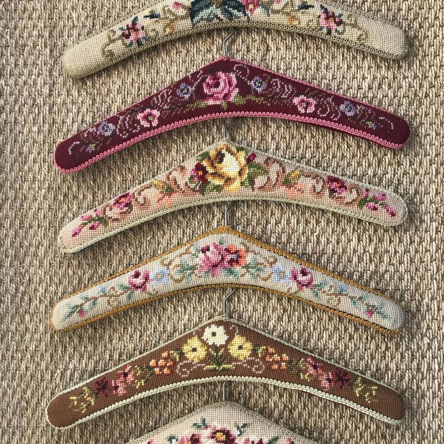 Vintage Woolwork Tapestry Hangers