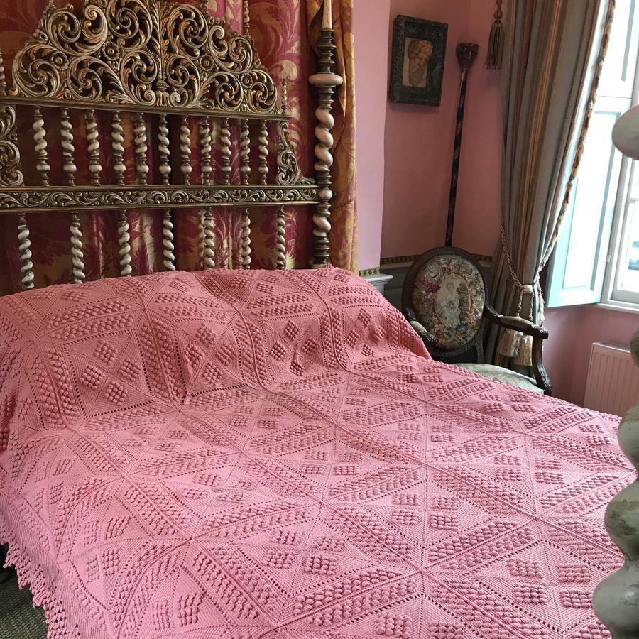 Vintage Hand Crochet Double Bedspread
