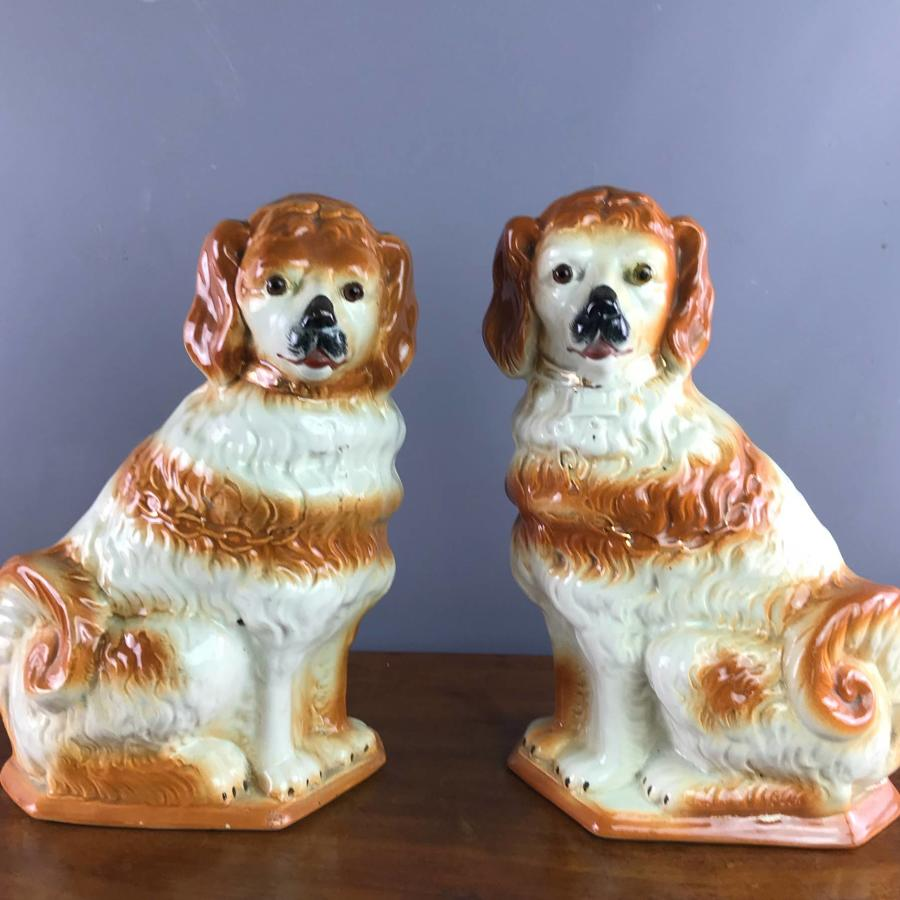 Pair of Scottish Bo'Ness Pottery Dogs