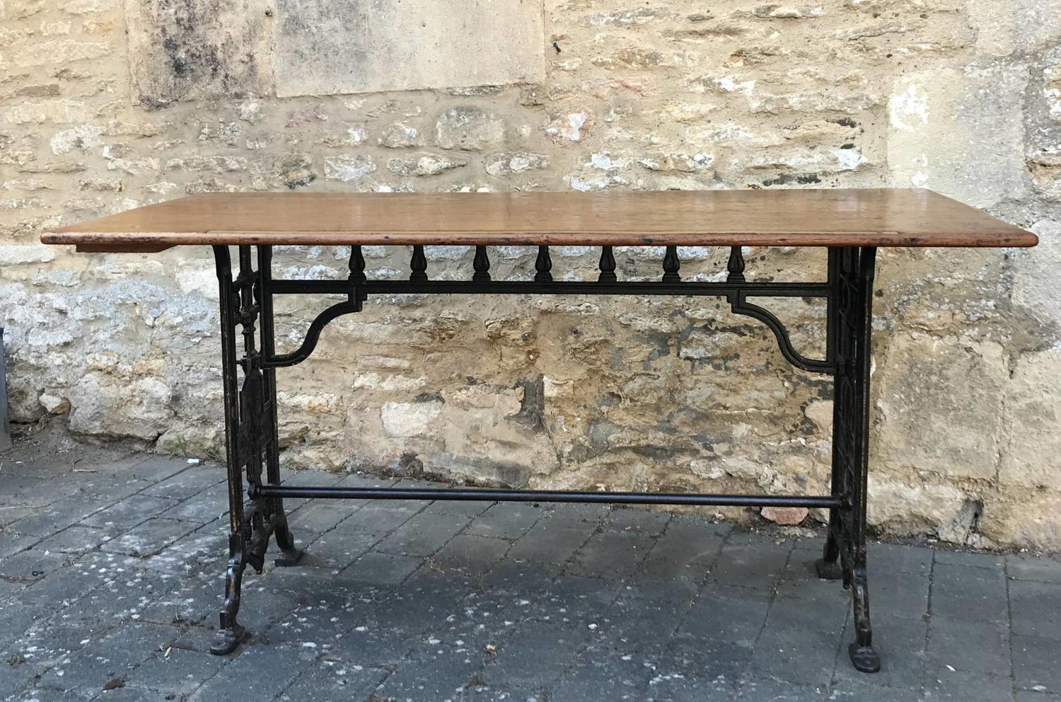 A Victorian Mahogany & Cast Iron Draper's Table