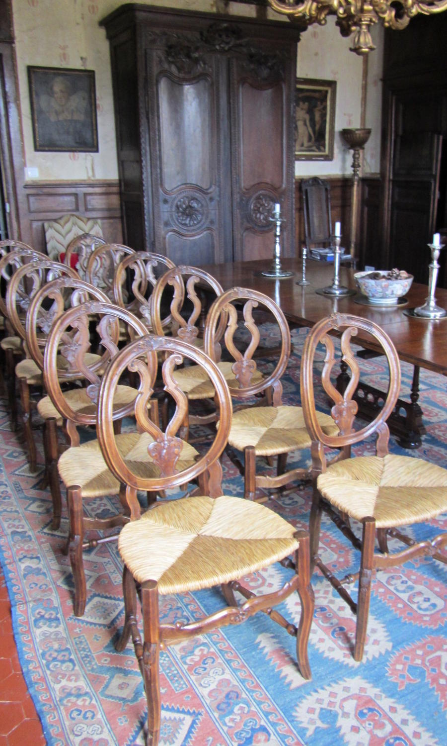 A set of 12 French Provencal Dining Chairs