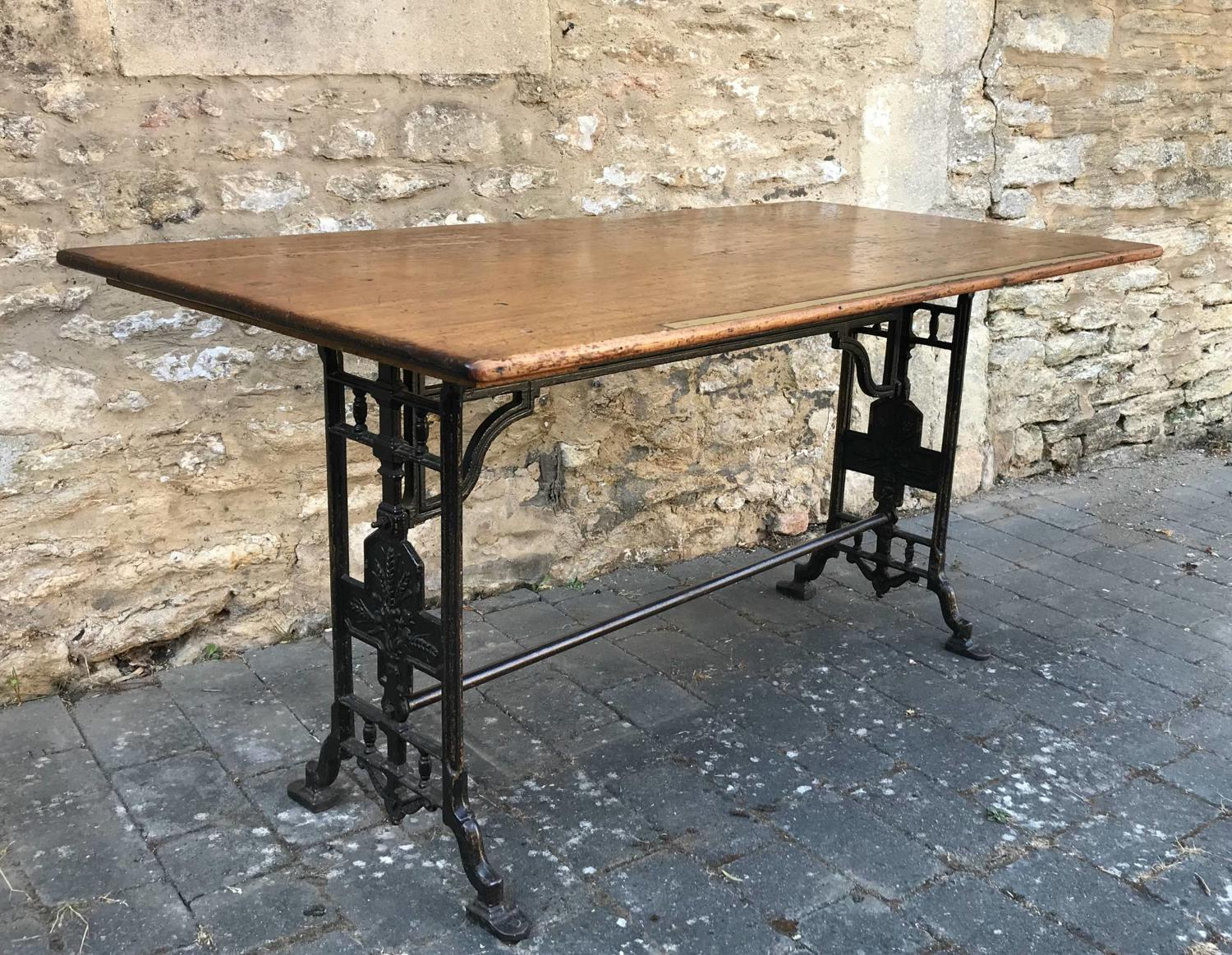 Victorian Cast Iron Draper's Table