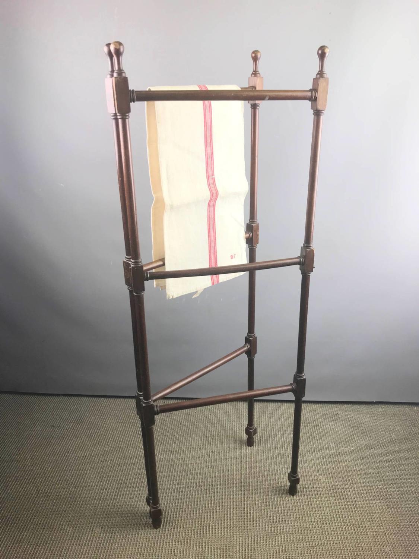 Antique Mahogany Folding Towel Rail