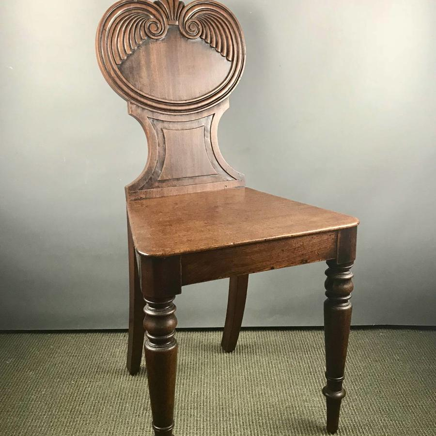 Regency Mahogany Hall Chair