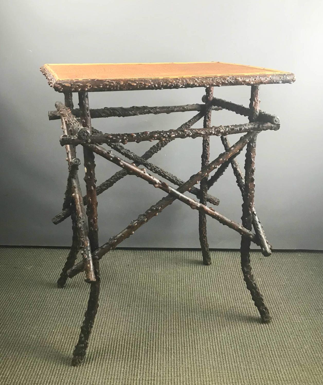 Unusual Winged Elm Folk Art Twig Table