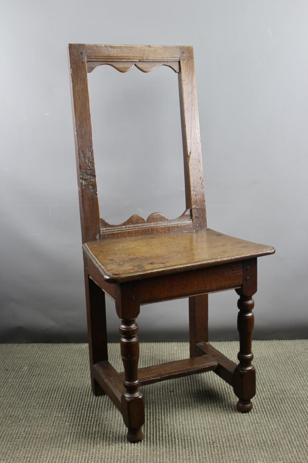 18th Century Oak Child's Backstool / Chair