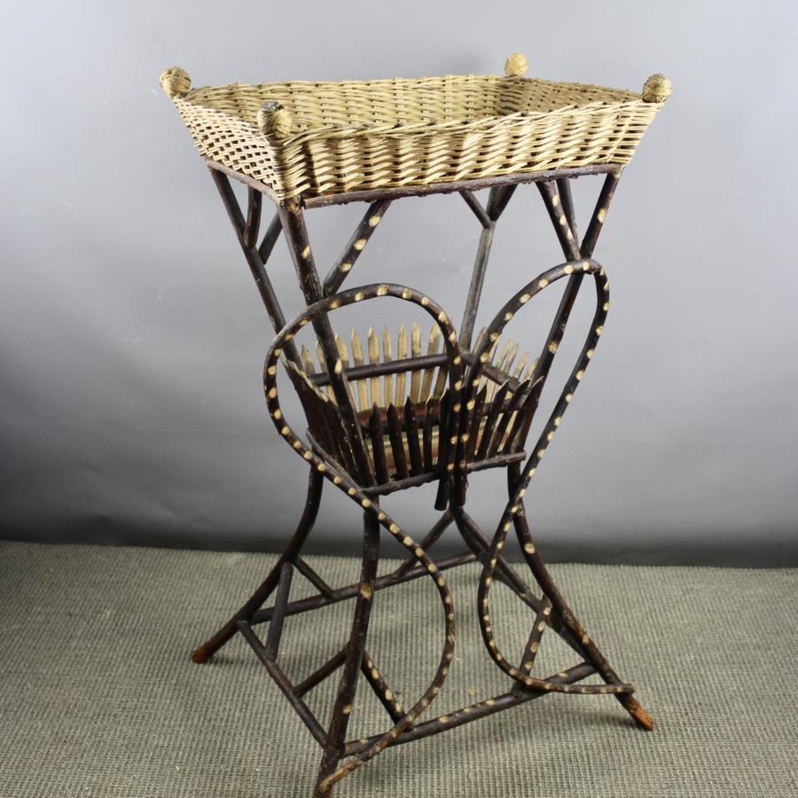 Antique Bentwood Folk Art Twig Table