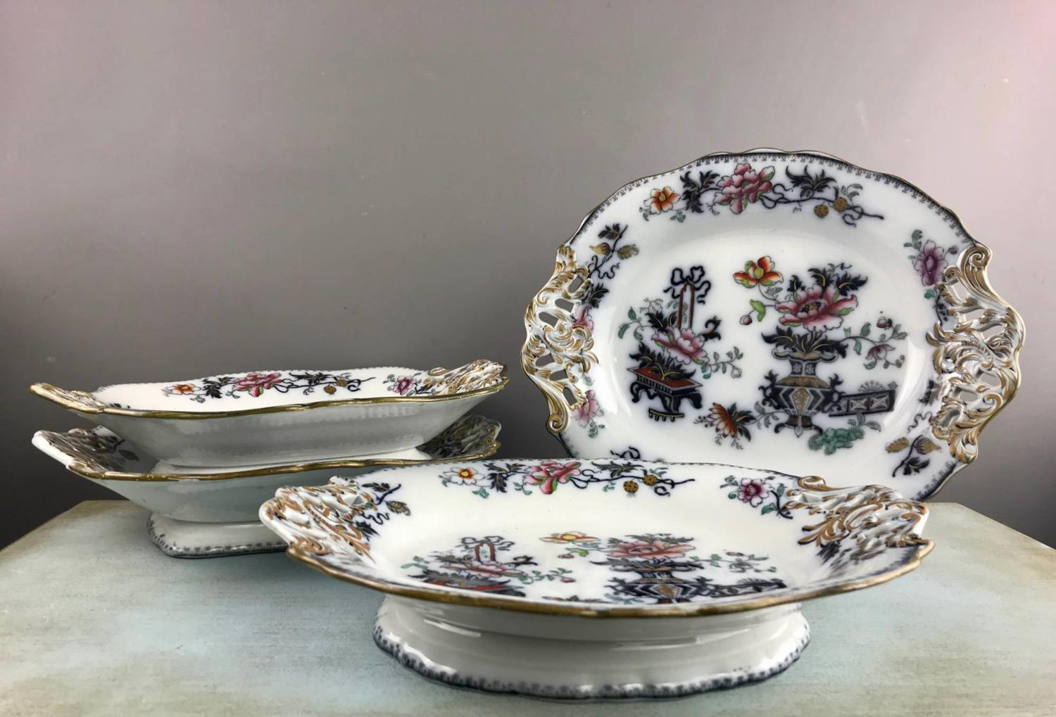 Francis Morley 'Casket Japan' Pattern Serving Dishes