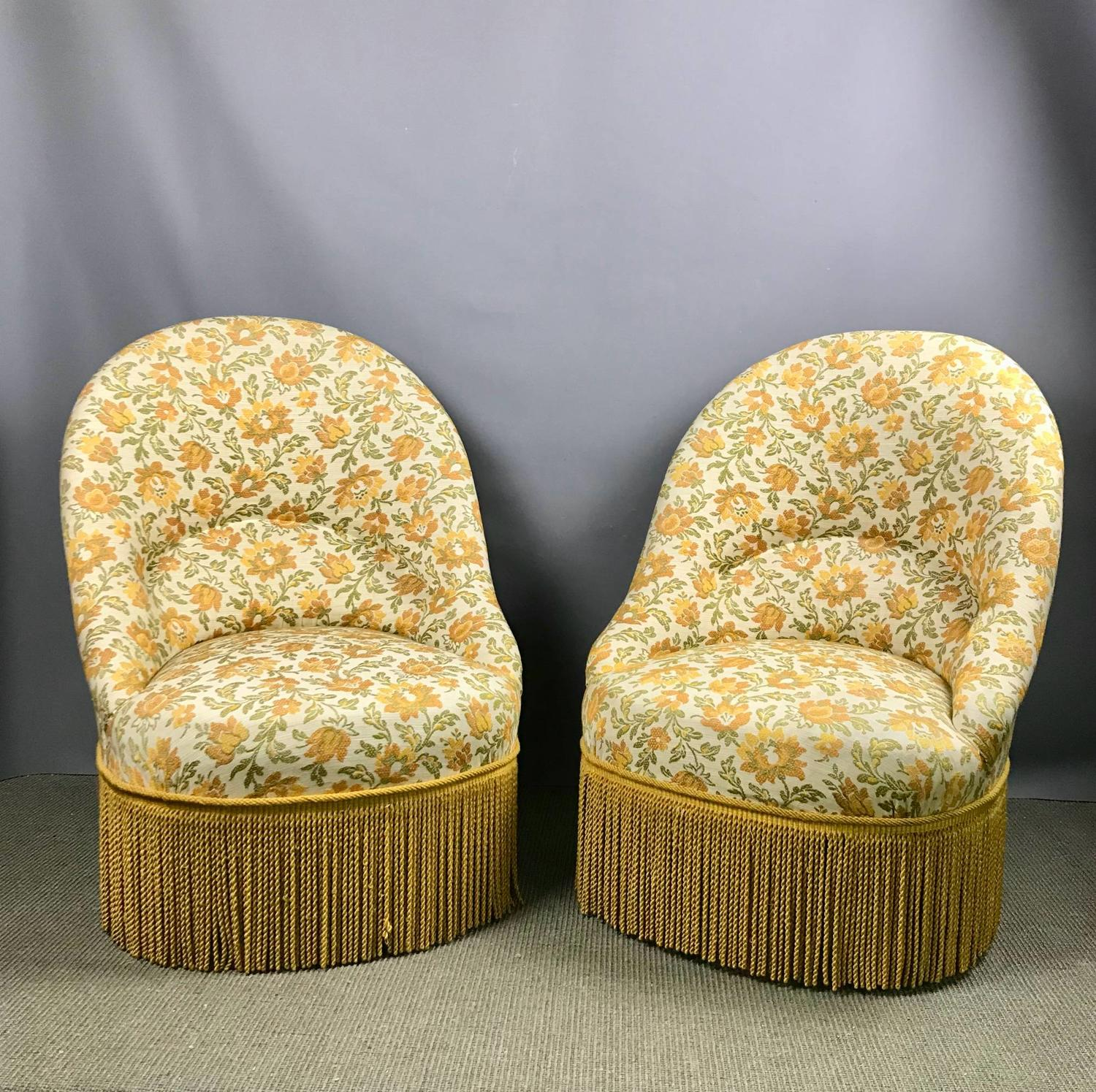 Pair of Boudoir Tub Chairs