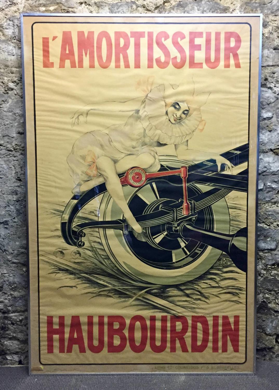 Rare L'Amortisseur Haubourdin Advertising Poster