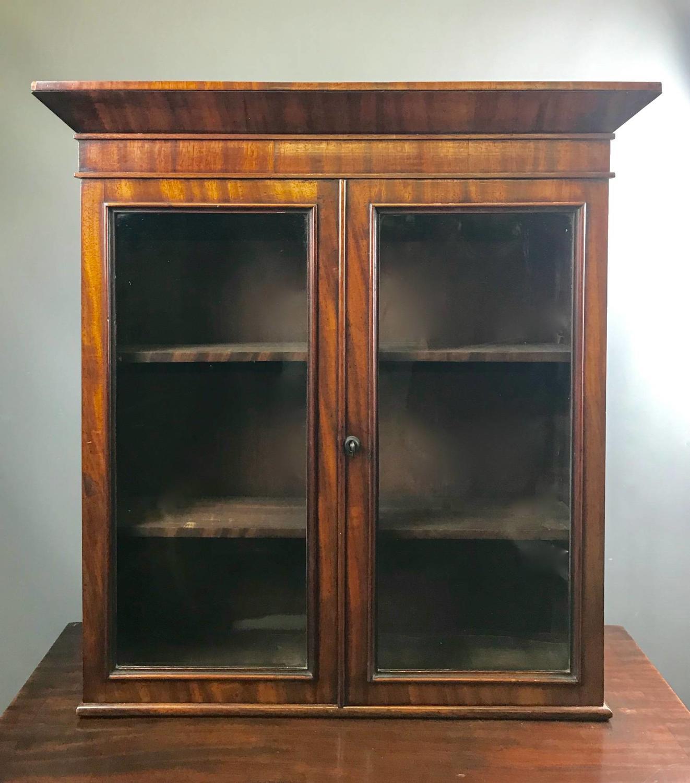 Small Victorian mahogany Glazed Wall Cabinet