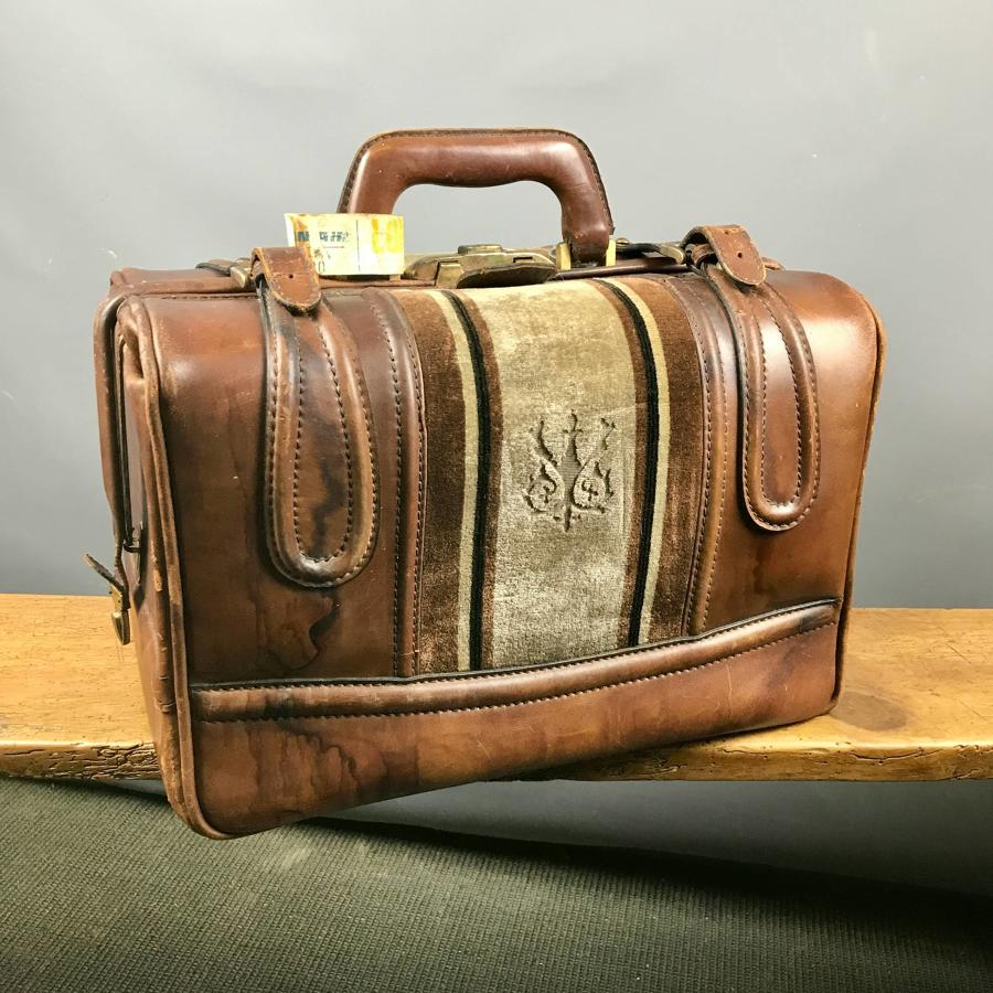 Vintage Leather Vanity Case
