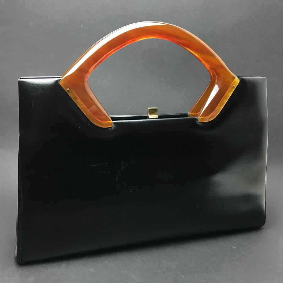 Vintage Handbag with Bakelite Handle