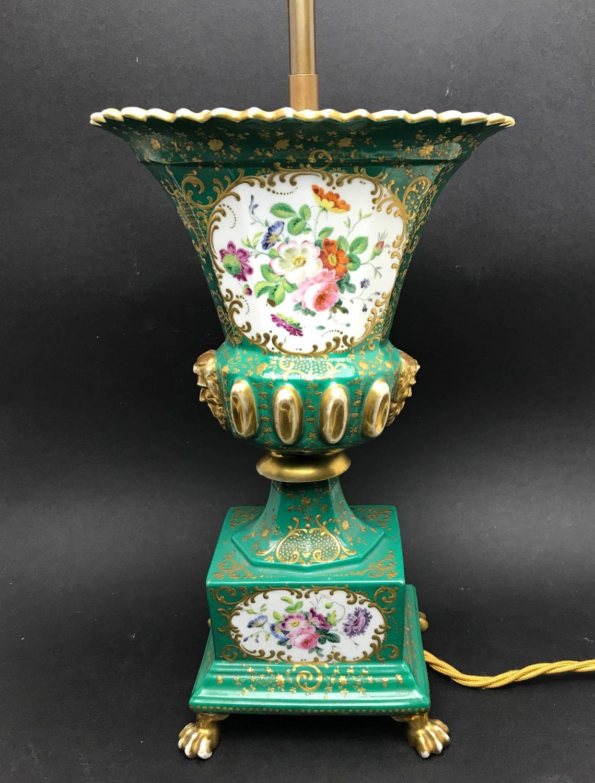 French Paris Porcelain Vase Lamp