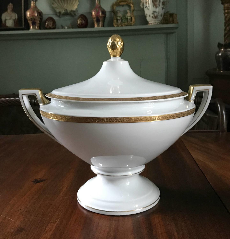 Art Deco Schlaggenwald Porcelain Tureen