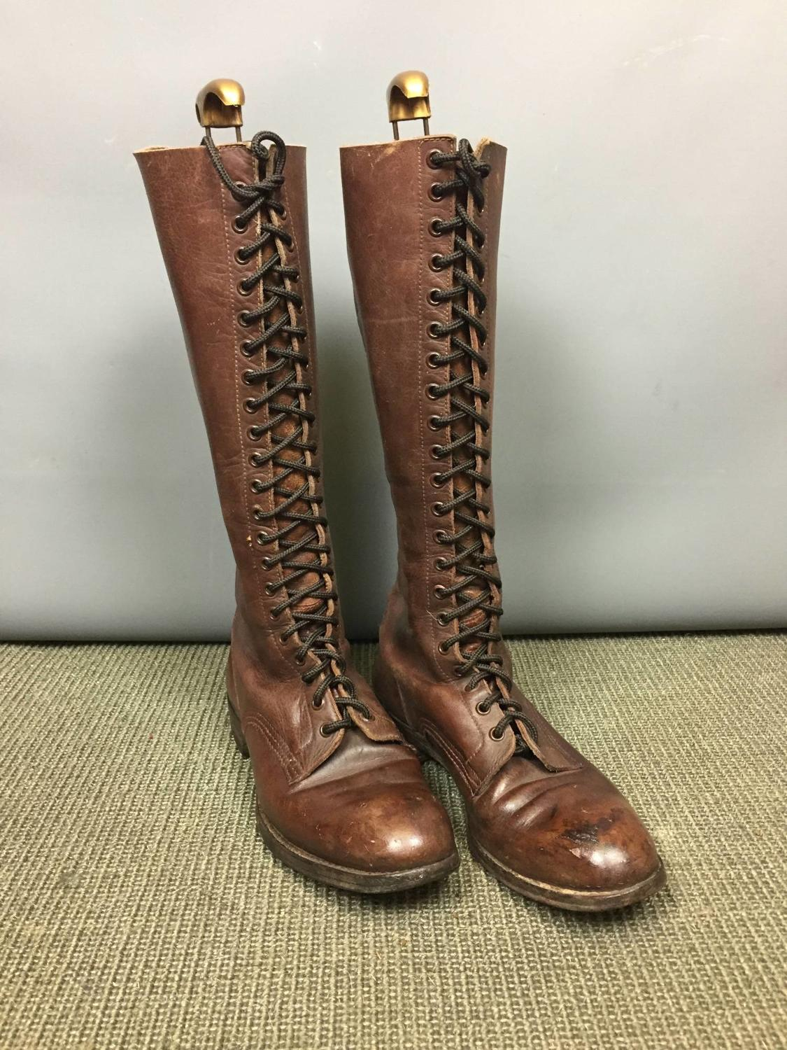 WWI Brown Leather Army Officer's Boots
