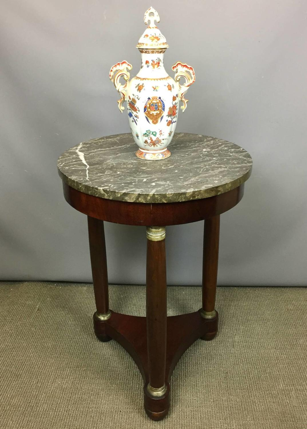 French Empire Marble Top Gueridon