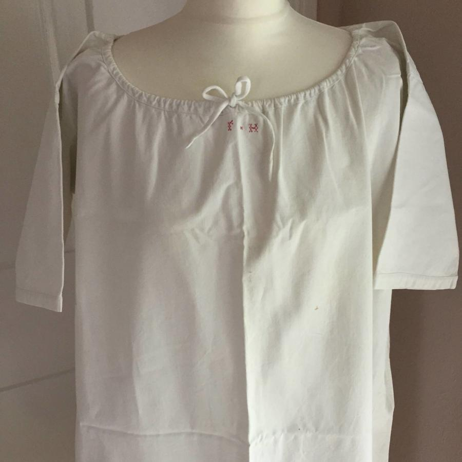Antique French Metis Linen Chemise