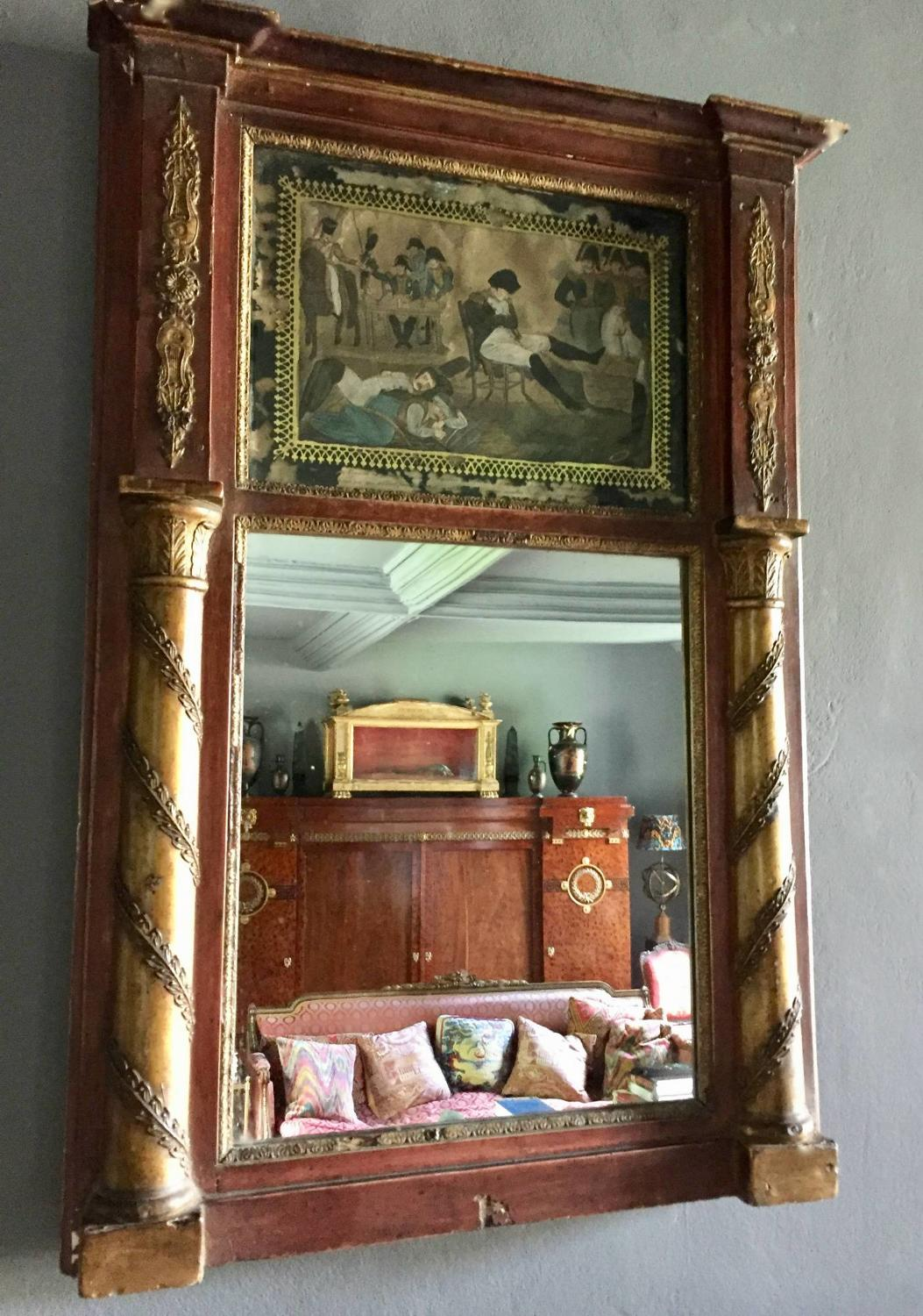 French Empire Trumeau Mirror