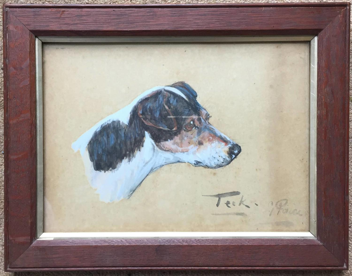 Pair of Watercolours of Terriers by George Paice