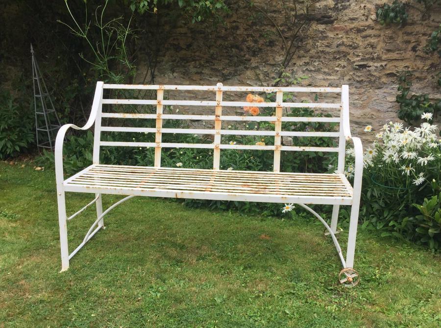 Vintage Slatted Garden Games Bench