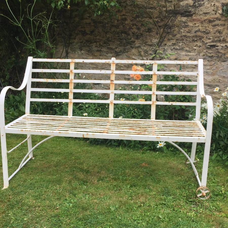 Vintage Slatted Garden Games Bench