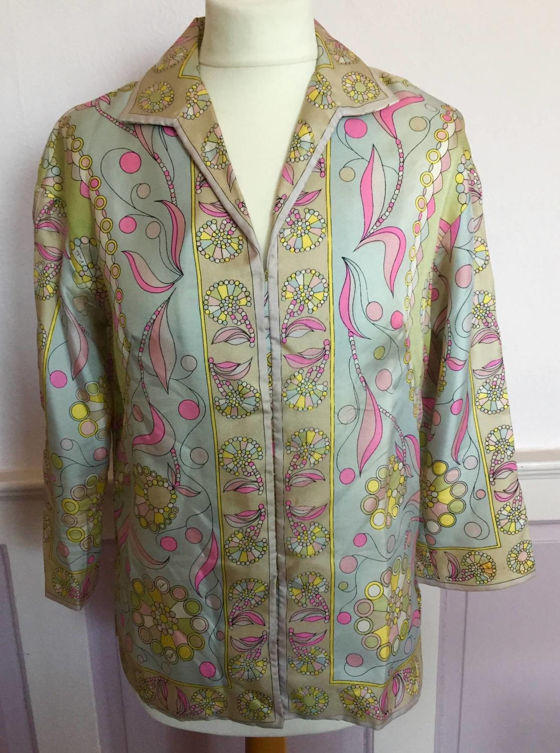 Vintage 1960's Emilio PUCCI Ladies Silk Shirt