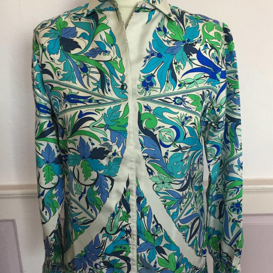 VINTAGE 1960's PUCCI LADIES SILK SHIRT