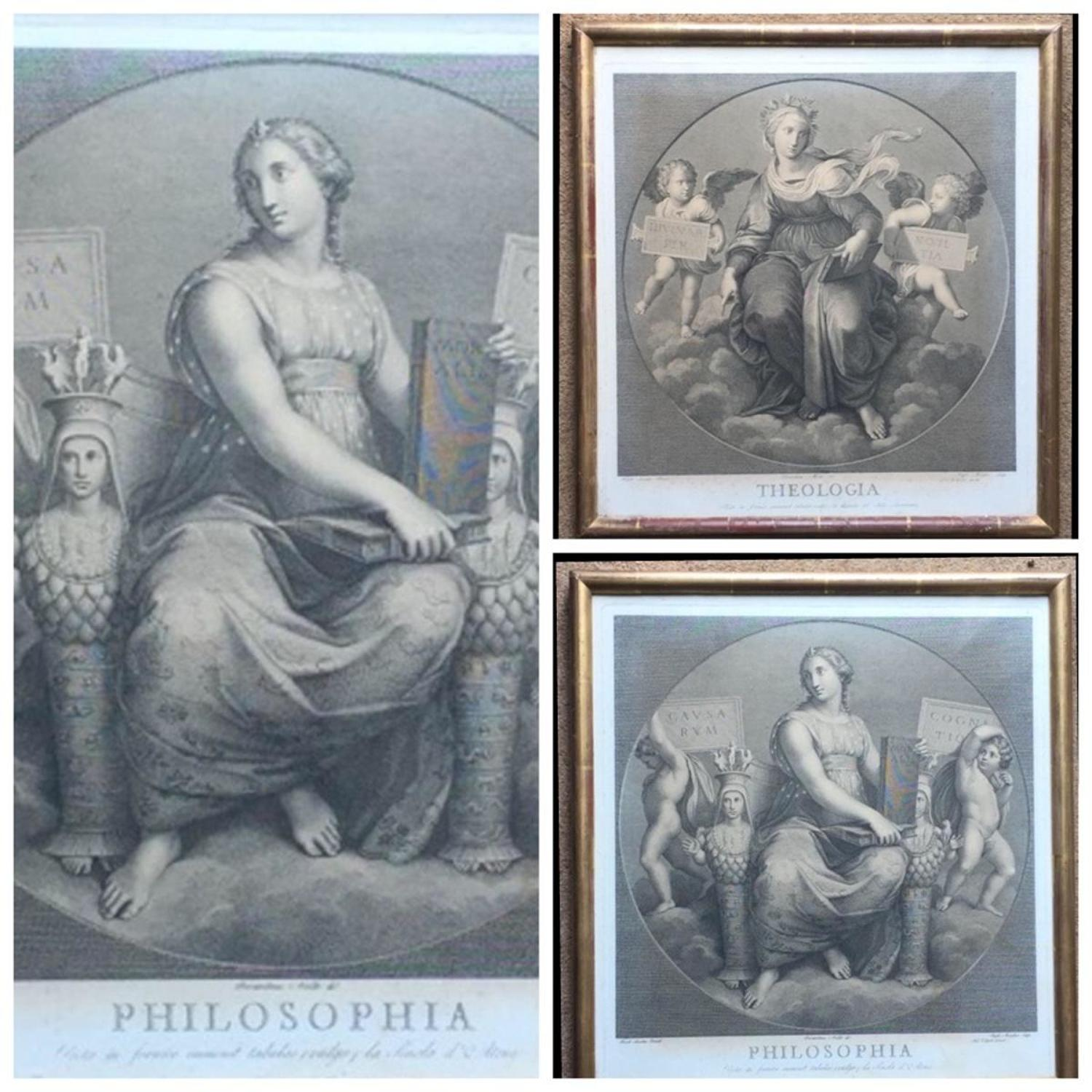 Pair of 18th Century Allegorical Engravings after Raphael