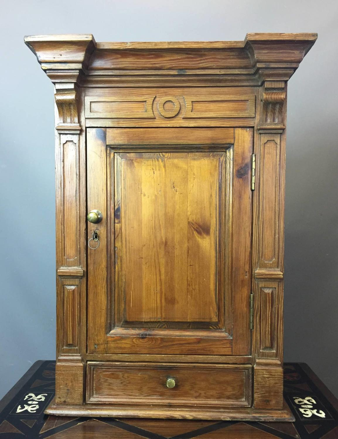 Continental 19th Century Pitch Pine Wall Cupboard