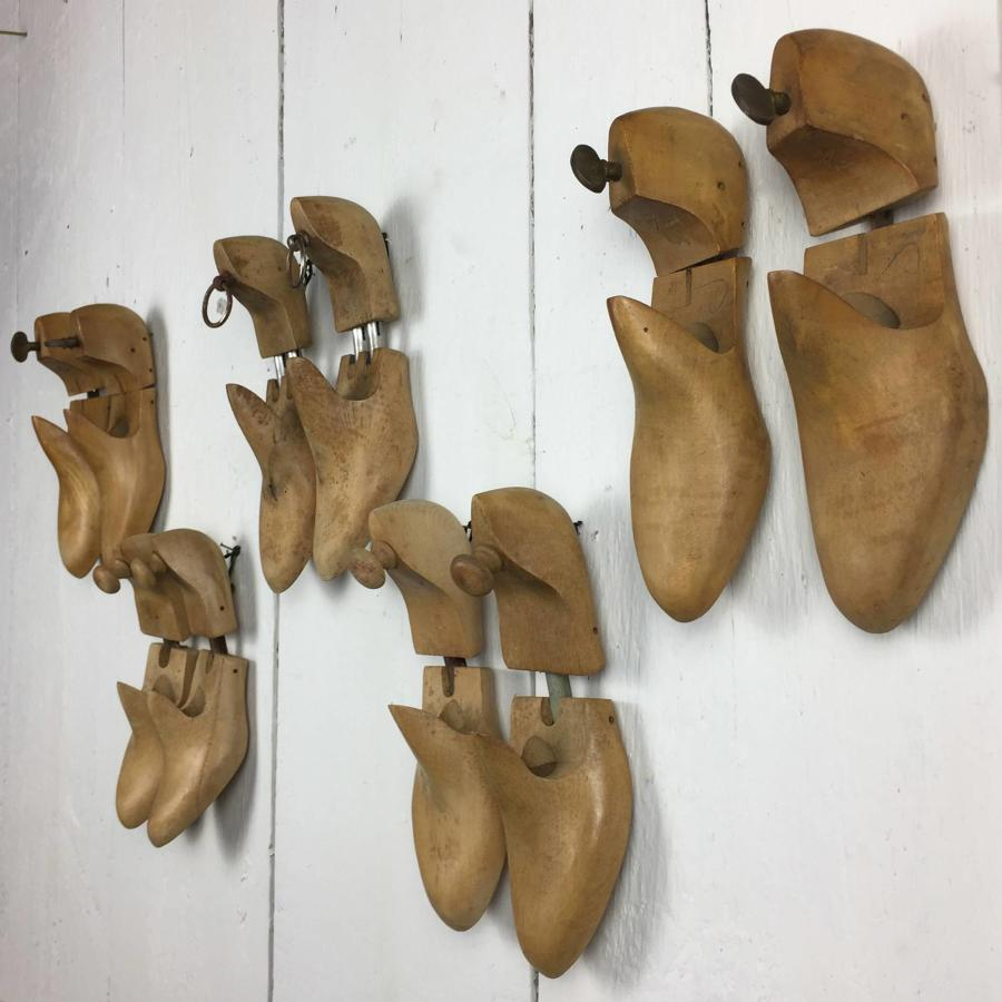 Collection of Vintage French Wooden Shoe Lasts