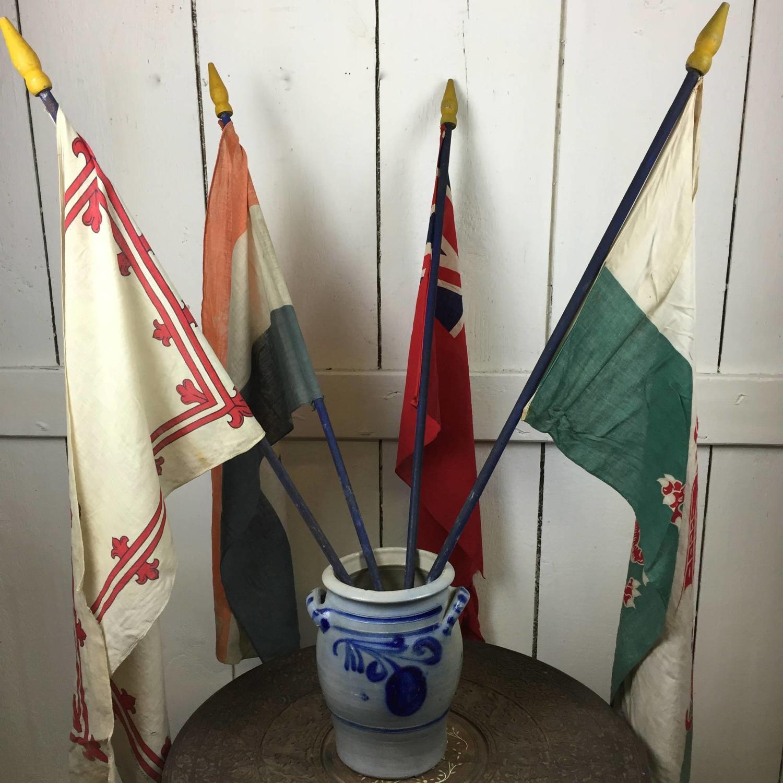 Four World War I Patriotic Flags