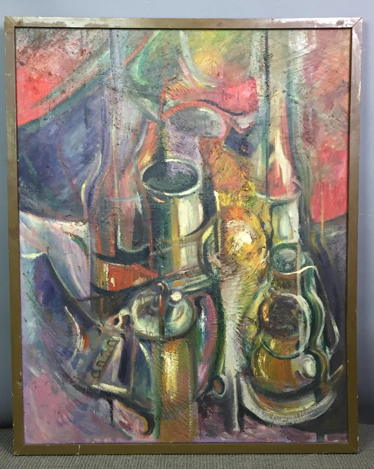 D J McCann 1960's Still Life Oil on Canvas
