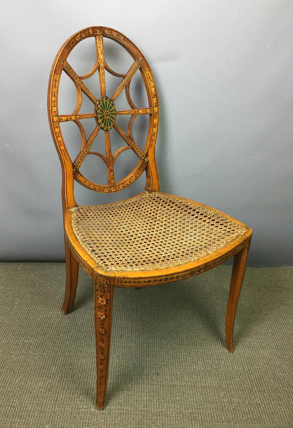 Antique Painted Spider's Web Chair