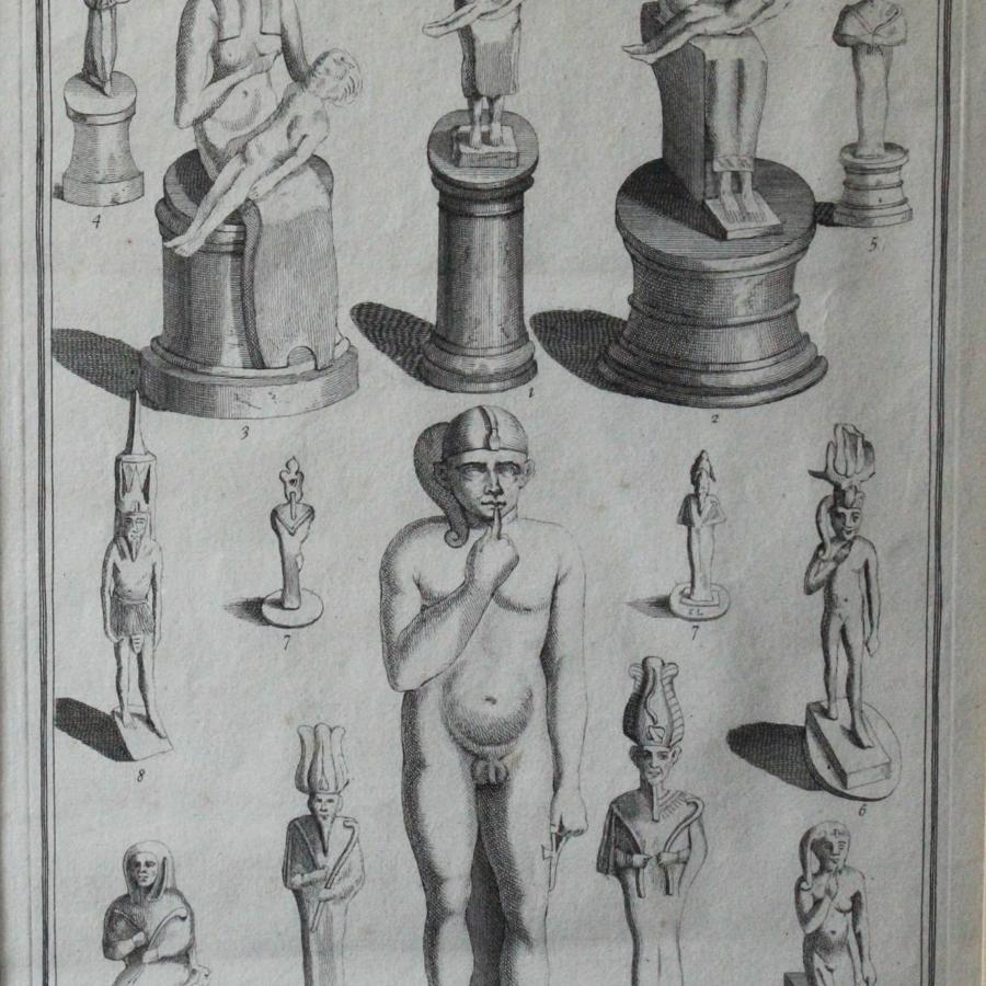 Alexander Gordon Engraving of Ushabti Figures from the Collection of Sir Richard Ellis, 1737